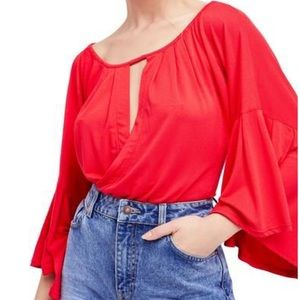 Free People Last Time Top in Red
